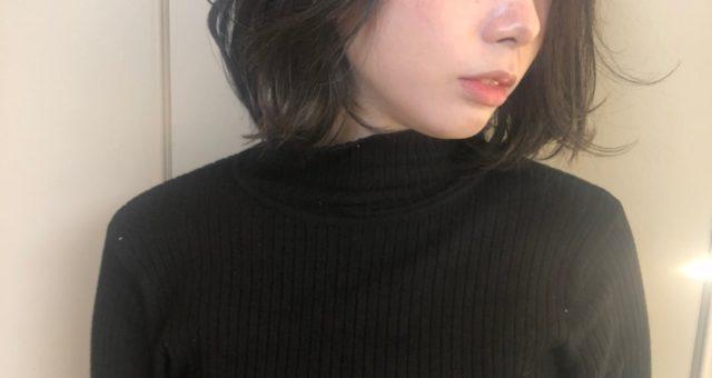 黒髪二ュアンスパーマ