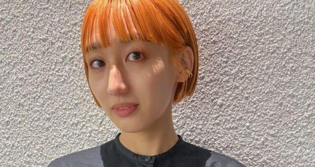 ミニボブ×オレンジカラー